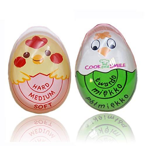 2 Piezas Temporizador de Cocina, Temporizador para Huevos Hervidos con un Diseño Que Cambia de Color con el Calor, Calor Sensible Huevos Cambio de Color Temporizador