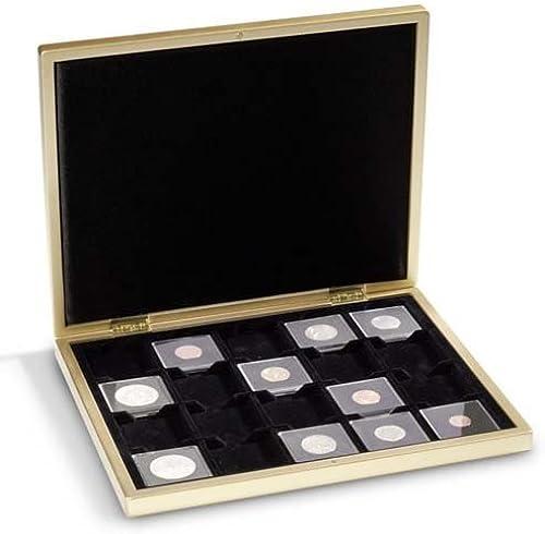Leuchtturm HMKL20MSIS Münzkassette PIANO für 20 QUADRUM-Münzkapseln, Silber-metallic