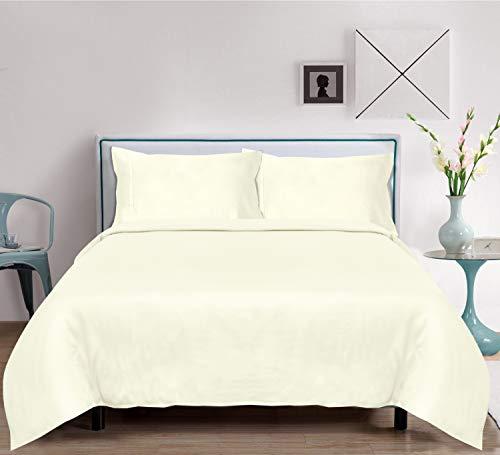 LINENWALAS King Size Bamboo Sheets 4 Piece Bed Sheet Set 100% Organic with 16