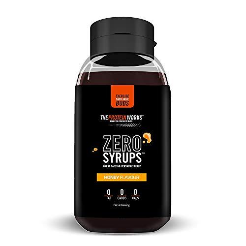Zero Syrups | Kalorienfreie, Zuckerfreie, Kohlenhydratfreie, Fettfreie, Schuldfreie Dessertsoße | THE PROTEIN WORKS, Honig, 600ml