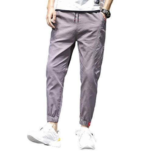 Pantalon de Sport élastique pour Hommes de Loisirs pour Hommes Pantalon Droit Confortable et Respirant d'été Britches Pantalon de survêtement Pantalon de Poche à Taille Moyenne