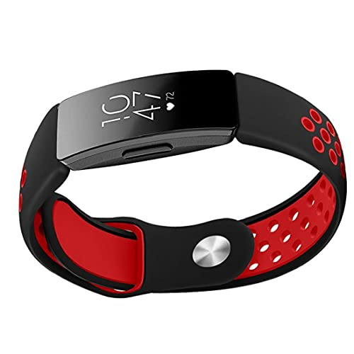 Reloj Correa Reloje de reemplazo de liberación rápida para hombres y mujeres 1.5 cm de ancho Bandas de relojes compatibles con Fitbit Inspire Rojo