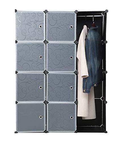 PDVCB Armario Plástico Plástico Rack, Grupo de Almacenamiento de Bricolaje Caja de Almacenamiento Mueble de Pared de plástico con Puerta