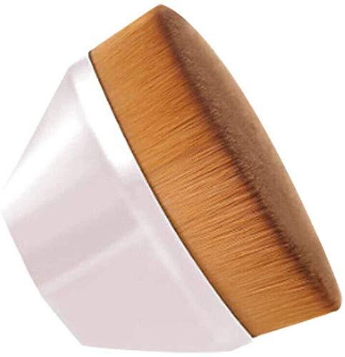 : Haute densité Transparente Pinceau Fond de Teint, Pinceau de Maquillage Professionnel, for mélanger des liquides, des crèmes et Anti-cernes (Rose) (Color : Pink)