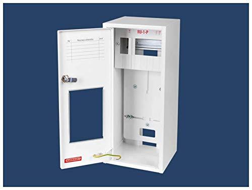 Zählerschrank Sicherungskasten Verteilerkasten AUFPUTZ 1 PHASEN 6 Sich IP30 RU-1-P