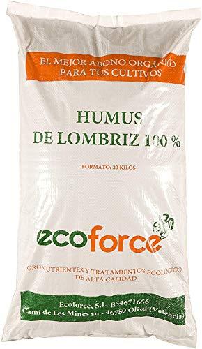 CULTIVERS Humus de Lombriz Ecológico 20 kg (40 L). Abono para plantas indicado para Jardín....