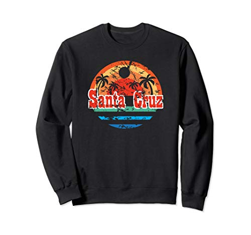 Santa Cruz Vintage Beach Sunset California Santa Cruz Summer Sweatshirt