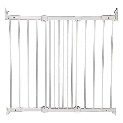 BabyDan Super Flexi Fit Extending Metal Safety Gate (White)