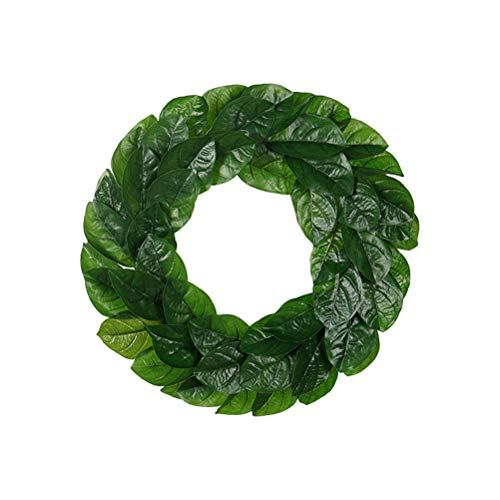 PRETYZOOM 1pc 40cm Magnolia Leaves Garland Women Wreath Flower Headband Girl Wreath Hair Accessories for Home Decoration