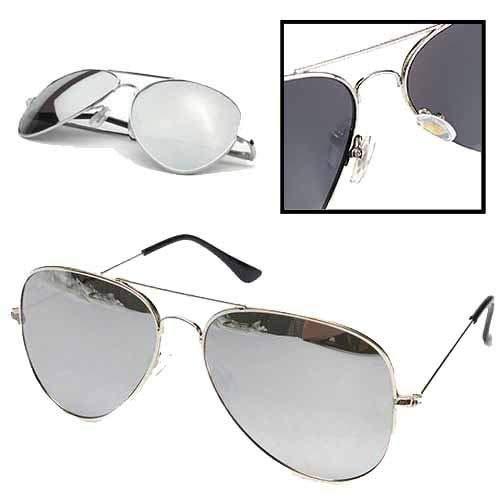 Markenlos Occhiali da Sole Occhiali da Piloti Aviator Specchio Occhiali Occhiali da Aviatore Polarizzate UV