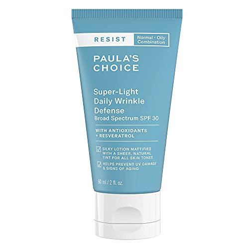 Paula's Choice Resist Anti Aging Leicht Getönte Tagescreme LSF 30 - Minimiert Falten & Pigmentflecken - Mineralische Sonnencreme mit Zinkoxid & Resveratrol - Mischhaut bis...