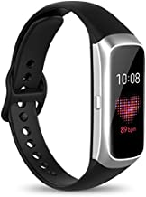 Watbro Compatible with Samsung Galaxy Fit SM-R370 Bands,Adjustable Soft Silicone Replacement Band Straps Wristbands Bracelet Fit Samsung Galaxy Fit Fitness Smartwatch for Women Men
