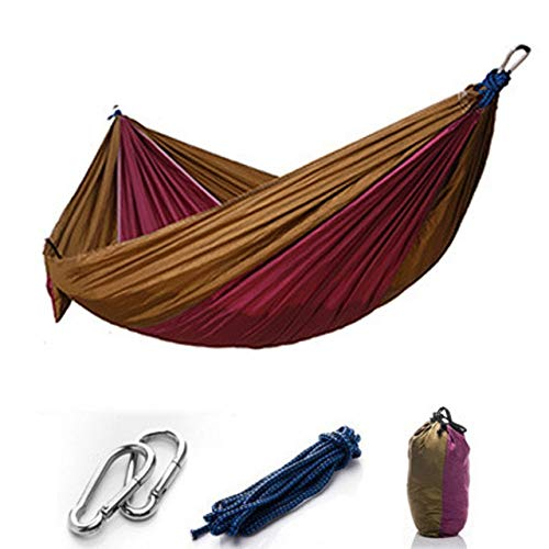 Camping/Garden Hammock with Mosquito Account Outside Furniture 1-2 Person Portable Hammock Strength Fabric Sleep Swing - Purple no Mesh,1