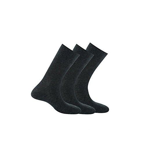Kindy Socken, Baumwolle, 3 Stück Gr. 43/46, anthrazit