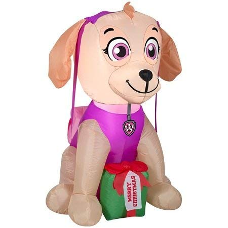 Gemmy Paw Patrol Skye Merry Christmas with Present Light Up Airblown Inflatable