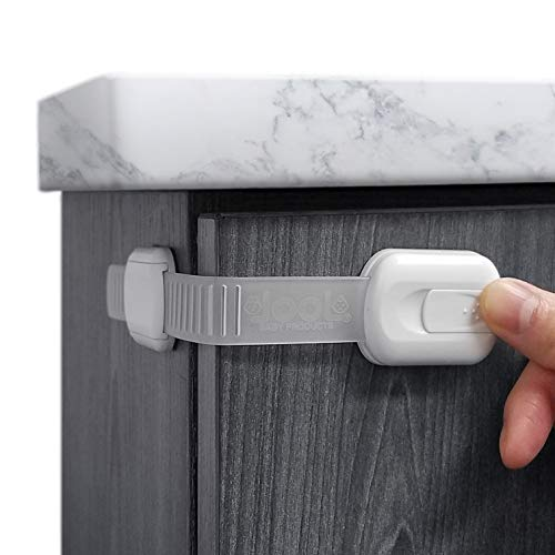 Child Safety Strap Locks 4 Pack for Fridge Cabinets Drawers Dishwasher Toilet 3M Adhesive No Drilling  Jool Baby