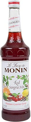 Monin Flavored Syrup Red Sangria Mix 750 ml bottle product image