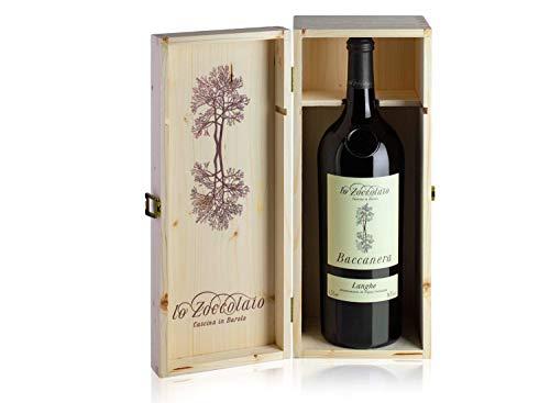 Lo Zoccolaio Langhe Rosso DOC Baccanera en Estuche de Madera - Vino Tinto Italiano - 1 Botella X 1500ml