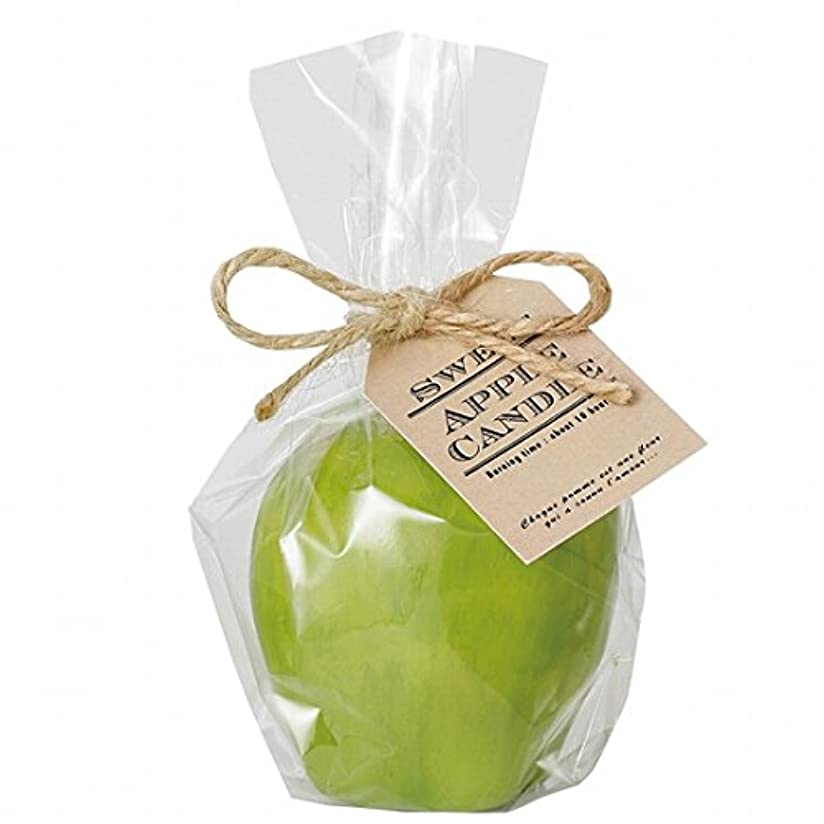 娯楽動員するフルーツ野菜kameyama candle(カメヤマキャンドル) スイートアップルキャンドル 「 グリーン 」(A4630520G)