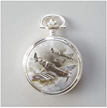Atlas World War II Fob Watch Decorated with D-Day Spitfire Plane June 1944 (Ref 101)