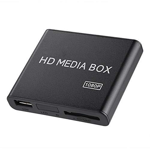 Reproductor Multimedia de tamaño pequeño Mini Box Soporte de Reproductor Multimedia RM/RMVB (Real8 / 9/10)(Transl, Normativas Europeas)