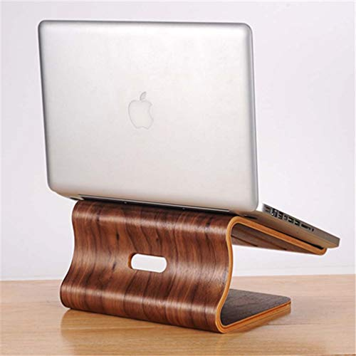 D-shoes Bamboo Laptop Stand, Wooden Cooling Stand Holder, Stand Riser Holder for Apple MacBook Air Pro iMac LCD Monitor PC TVs Printer