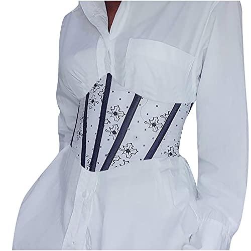 Bestyyo Tops para mujeres del Reino Unido, para culturismo personalizado con estampado de espina de pescado en la cintura
