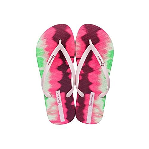 Ipanema Tie Dye Chanclas de verano para mujer Feelings fabricadas en flexpand un material 100% vegano y reciclable ideal para la playa, piscina y para los paseos de verano - rosa/verde - 39