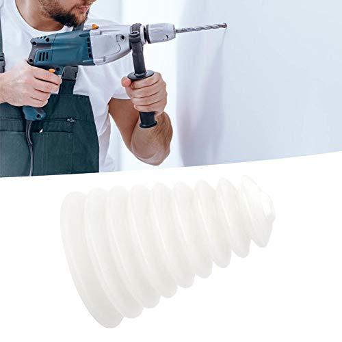 Ca. 11cm Abdeckungshöhe Weiß, Schwarz Staubabdeckung Ca. 1,5 cm kleiner Mundbohrer Staubschutzkappe Elektrohammer Bohrmaschine(white)