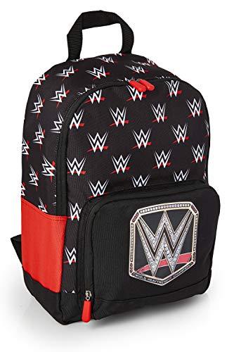 WWE Mochila Escolar Niño Lucha Libre, Mochilas Escolares Juveniles con Bolsillo Frontal, Merchandising Oficial World Wrestling Entertainment, Regalos para Niños Niñas Adolescentes Adultos