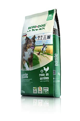 BEWI DOG Basic [25 kg] Hundefutter | Trockenfutter für Hunde | ohne Weizen & Soja | 80% tierisches Eiweiß | für große, mittlere & Kleine Rassen