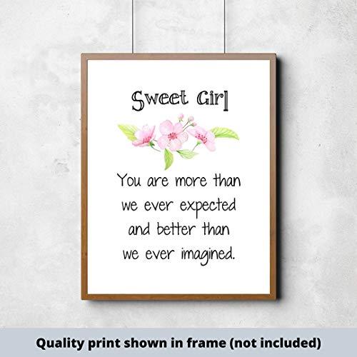 Señal de nombre personalizado con texto en inglés «Unknow» para niña, cartel...