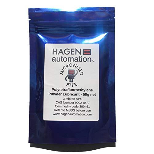 Hagen Automatisierung 50 g PTFE Pulver Gleitmittel für Zykluskettenwachsen – 3 Mikron APS
