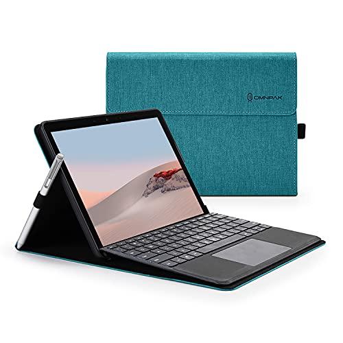 Omnpak Hülle für Microsoft Surface Go 2 2020 / Surface Go 2018 10-Zoll Tablet, Business-Hülle mit Stifthalter, Einstellbarer Multi-Betrachtungswinkel, kompatibel mit der Type Cover-Tastatur