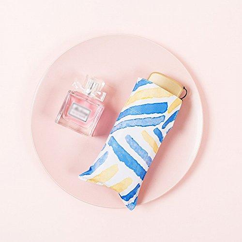 GUO Ombrello Dea Mini Pocket 50% Super Light Ombrello Dual-Use, Protezione Solare UV Da Donna Visiera Pieghevole Parasole,Sea Breeze Hawaii,Taglia Unica