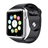 Style Asia Touch Screen Bluetooth Enabled Smart Watch, Camera, Music, Fitness Tracker and Pedometer, Black Matte Finish, Compatible to All Android and iOS Mobile Phones (150088)