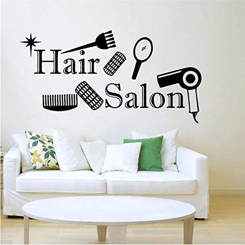Friseursalon Stickers voor ramen, kapsalon, 110 x 57 cm