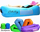 Chilly Inflatable Lounger Portable Air Sofa Hammock Chair, Newest...