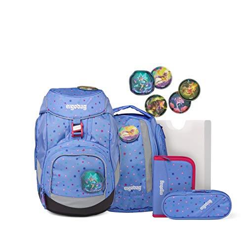 ergobag pack Set - ergonomischer Schulrucksack, Set 6-teilig - Bärzaubernd - Blau