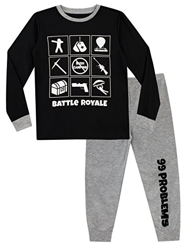 Battle Royale Boys' Gaming Pajamas Size 14 Multicolored