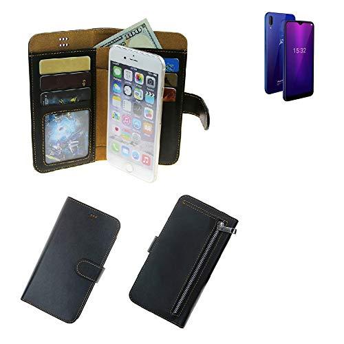 K-S-Trade® Schutzhüll Für Allview Soul X6 Mini Schutz Hülle Portemonnaie Case Phone Cover Slim Klapphülle Handytasche E Handyhülle Schwarz Aus Kunstleder (1 STK)