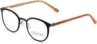 CAROLINE B.K. CBK108 montura de gafas sin graduar con lentes transparentes sin prescripción estilo CLÁSICO en METAL UNISEX...