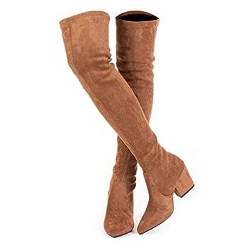 Best cognac thigh high boots Reviews