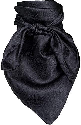 Wild Rag Black Silk Jacquard