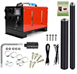 12V 5KW Diesel Air Heater | Diesel Parking Heater Muffler | Automotive Diesel Air Conditioning Heater with LCD Thermostat Monitor for RV, Snow Plow, Motorhome, Trailer, Trucks, Boats (Red)