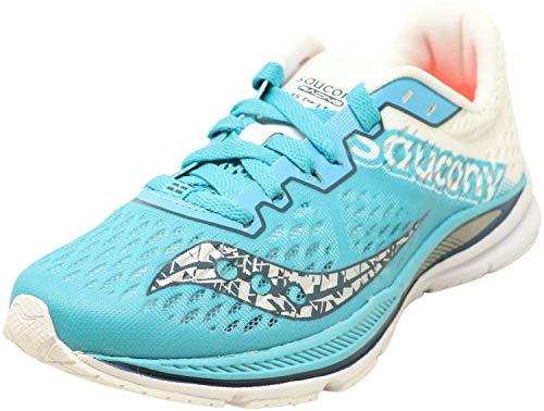 Saucony – Chaussures de course Fastwitch 8 pour femme, Vert (Bleu sarcelle/Blanc), 38.5 EU