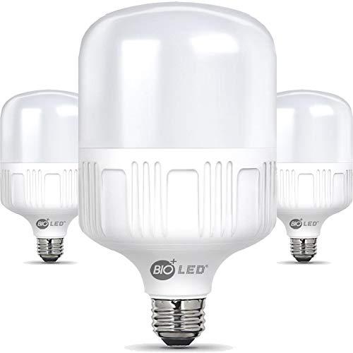 Bioled 20W, 3 Stück, E27 LED Kaltweiß 6400K, Ersetzt 200W, 2000lm, LED Birne, LED Lampe, Glühbirne, LED Leuchtmittel, Feuchtigkeitsbeständig
