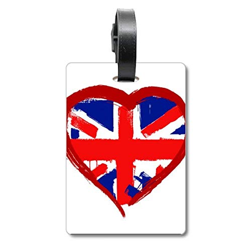 Love Heart - Etiqueta de identificación para Maleta, diseño de Bandera de Inglaterra