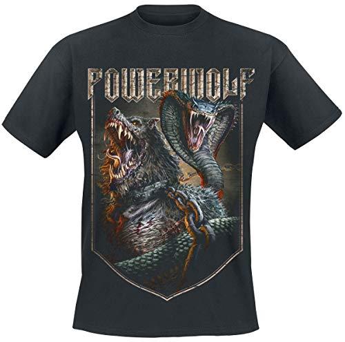 Powerwolf Kiss of The Cobra King Männer T-Shirt schwarz XL 100% Baumwolle Band-Merch, Bands