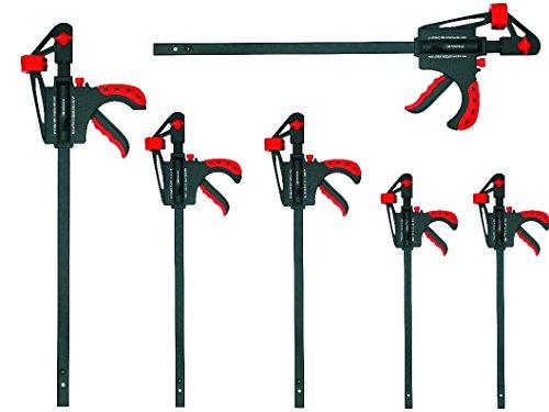 Proteco-Werkzeug® Set 6 Teile Schnellspannzwingen 300/450 / 600 mm Einhandzwingen Spreizzwingen Spannzwingen Schraubzwingen